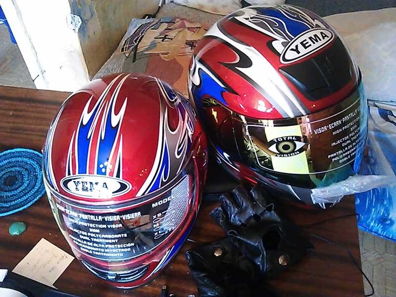 (13.04.2013 doroga) Шлемы для мотоцикла в Каменске - Купили в Олми для нового сезона