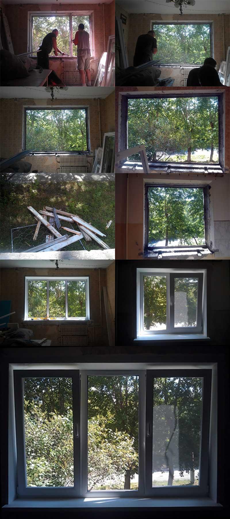 (22.07.2013 blogger) Поставили пластиковые окна - В комнате и на кухне
