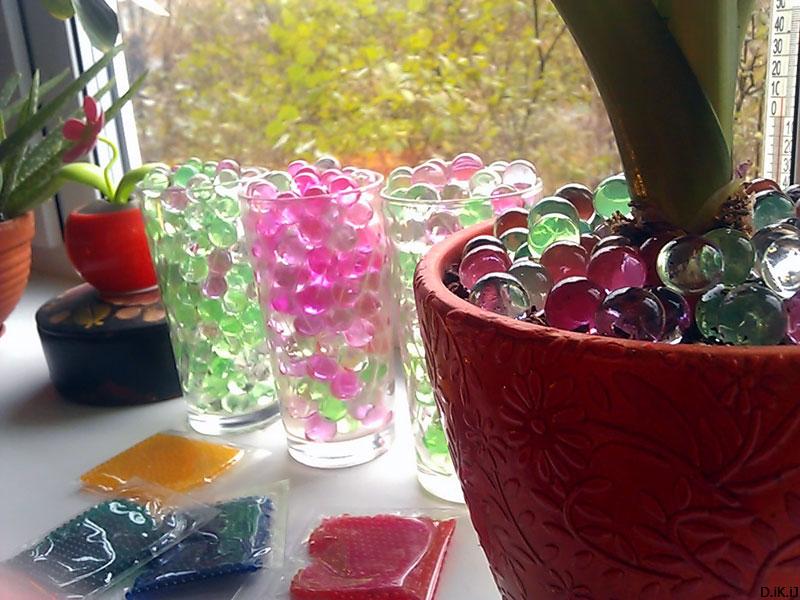 (12.10.2013 blogger) Гидрогель в оформлении - Цветы и бокалы