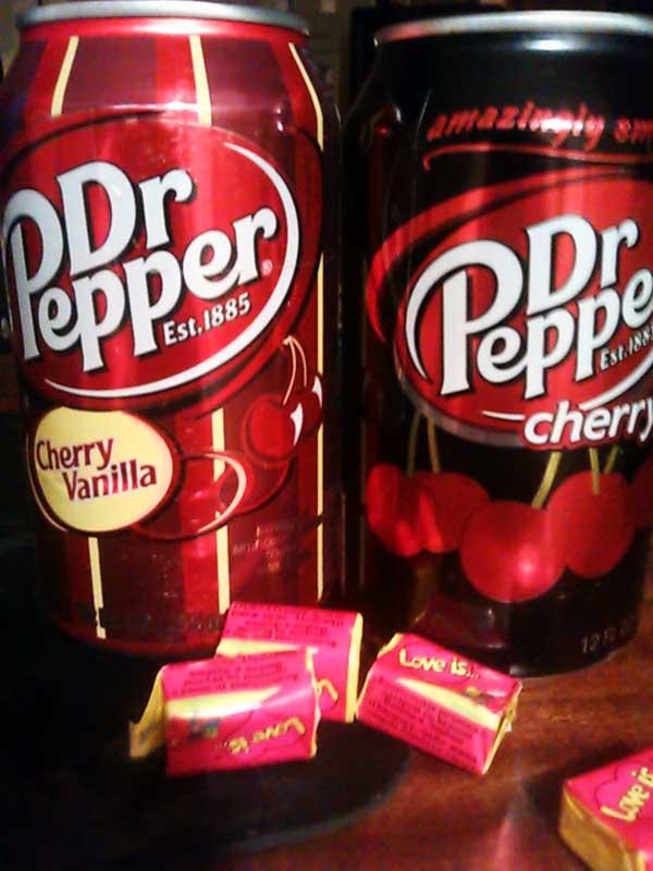 (25.11.2013 food) Доктор Пеппер - И упаковка вишневых Love Is