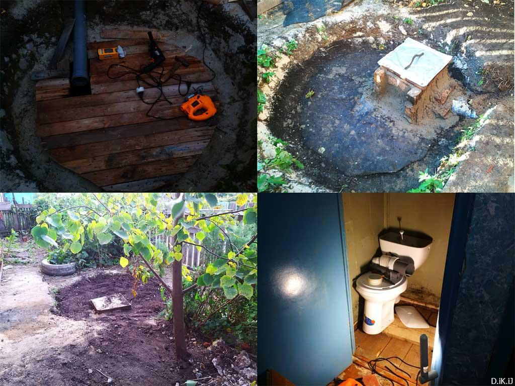 (22.09.2014 instagram, blogger) Установка туалета; бака и унитаза - В частном доме
