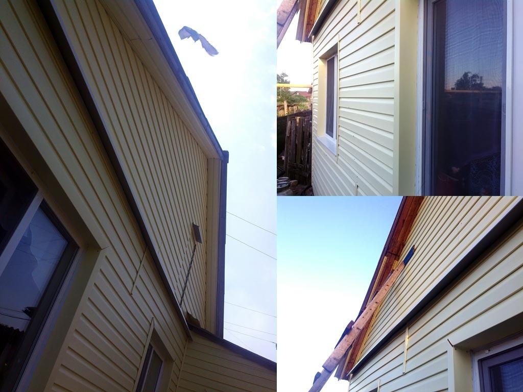 (30.06.2015 blogger) Заканчиваю с сайдингом - Зашил крышу и сделал уголки у окон