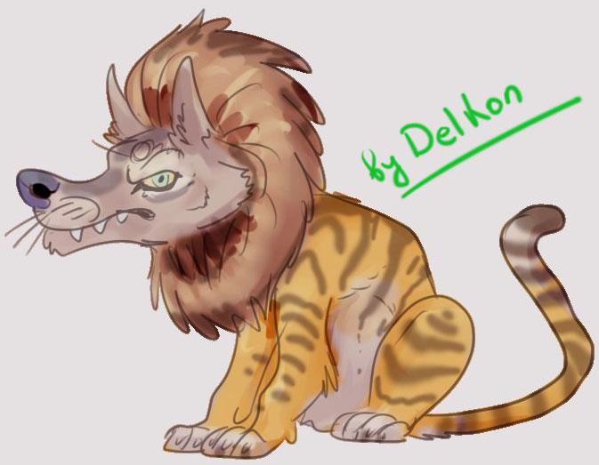 (26.08.2015 blogger) Льво-волко-тигр - Помесь льва, волка и тигра от Kristin Del Kon Нефёдова