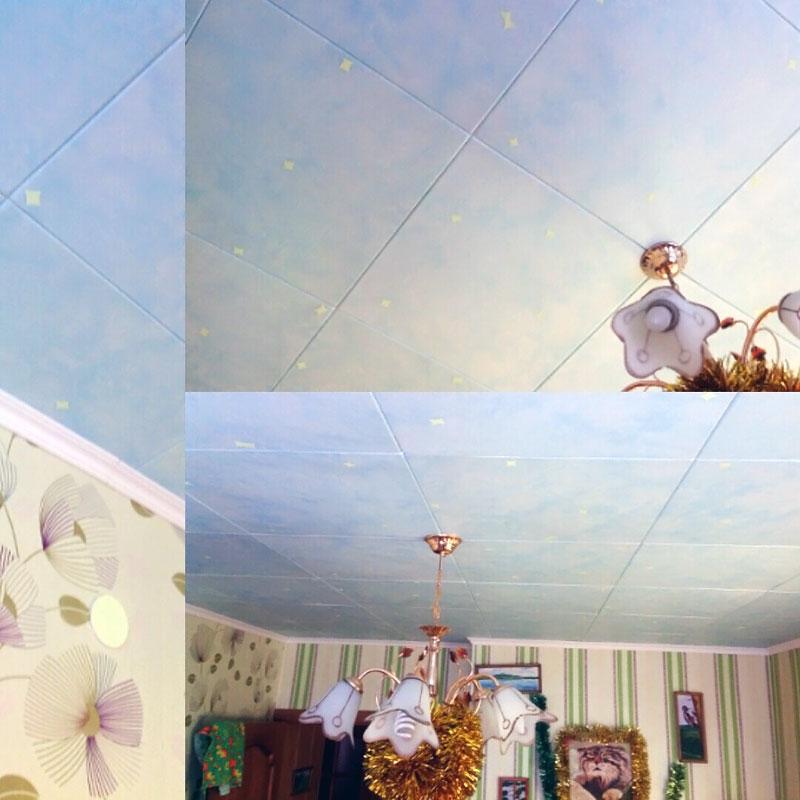 (22.01.2016 blogger) Светящиеся звезды на потолке - В детской. Из скотча
