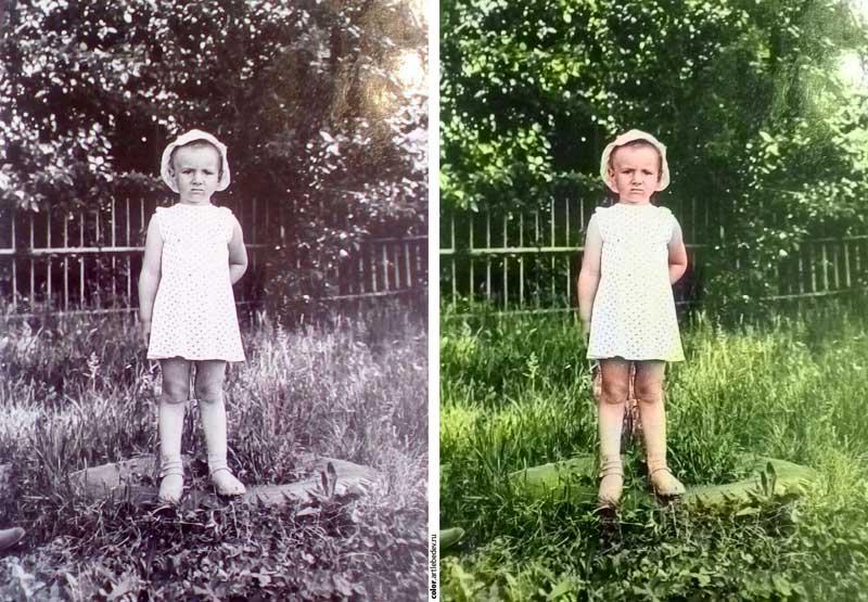 (04.06.2017 blogger) Раскрашиваем любое старое фото - автоматически в цветное