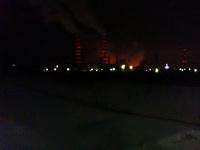 (04.02.2013 gorod ) УАЗ - Ночной вид на мобильник