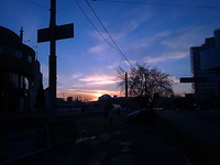 (16.02.2013 doroga) Вид на цирк - Возвращаемся домой из зоопарка