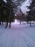 (21.03.2013 gorod) Сноуборд в Каменске - Третье катание