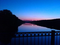 (02.06.2013 doroga) Выходные - Мост через Исеть вечером