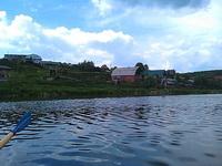 (12.06.2013 doroga) На лодке до 2 висячего моста - Второй мост на Исети