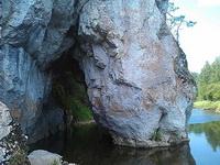 (06.07.2013 doroga) Природный парк Оленьи ручьи - Дыроватый камень. Пьющая лошадь