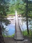 (06.07.2013 doroga) Природный парк Оленьи ручьи - Подвесной мост