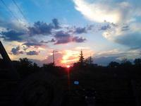 (22.07.2013 doroga) Закат - В Монастырке