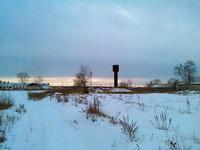 (16.12.2013 doroga) Фермы и водонапорная башня - Недалеко от Монастырки