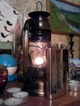 (16.12.2013 blogger) Новогодний подарок - Керосиновая лампа и фляга