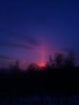 (26.02.2014 gorod) Солнечный столб - Дорога через сады