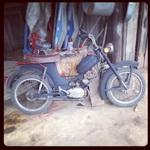 (11.05.2014 instagram, blogger) Мопед Рига 13 или 3 - Красил и чинил уже ни одни выходные