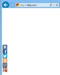 (30.08.2014 blogger) Вертикальный блок Поделиться от Яндекса - Двигается при прокрутке