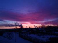 (15.11.2014 gorod) Закат на крыше в Монастырке - 1
