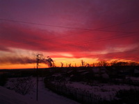 (15.11.2014 gorod) Закат на крыше в Монастырке - 2