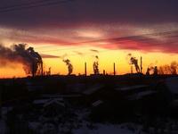 (15.11.2014 gorod) Закат на крыше в Монастырке - 3