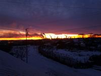 (15.11.2014 gorod) Закат на крыше в Монастырке - 4