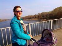 (09.05.2015 gorod, doroga) Алена на мосту в Каменске - Гуляем с Сашей из Монастырки